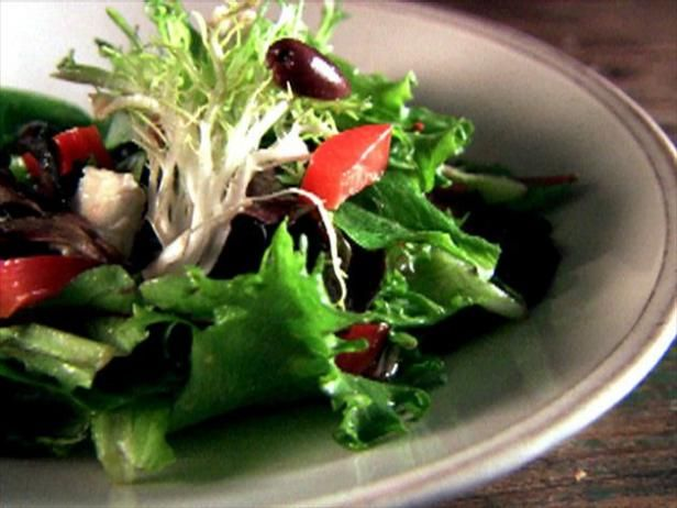 Get Mixed Green Salad with Sherry Vinaigrette Recipe from Food Network