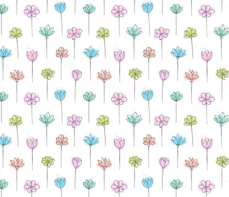 Summer Flowers fabric by nossisel on Spoonflower - custom fabric