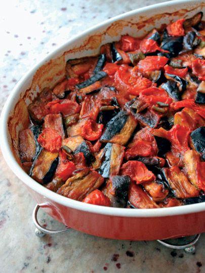 Fırında Patlıcan Kebabı (eggplant kebab)