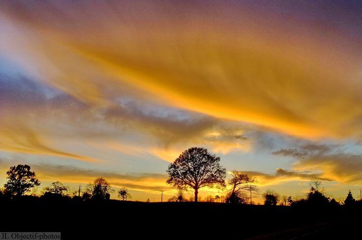 Photo Normandie, coucher de soleil Orne-Manche