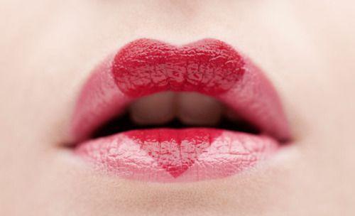 .Lipsticks, Heart Lips, Valentine Day, Pink Heart, Heart Shape, Makeup, Beautiful, Red Lips, Lips Art