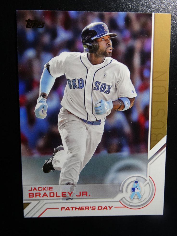 2017 Topps Series 1 #S-61 Jackie Bradley Jr. Red Sox Salute Father's Day Card #Topps #BostonRedSox
