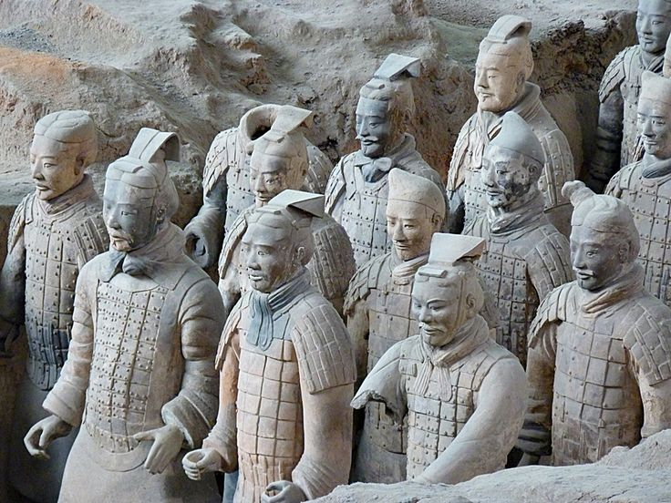 "The Terracotta Army or the ""Terracotta Warriors and Horses"" is a collection of terracotta sculptures depicting the armies of Qin Shi Huang, the first Emperor of China. http://vacationandtripplanning.blogspot.in/2015/11/7-best-places-to-visit-in-china.html"