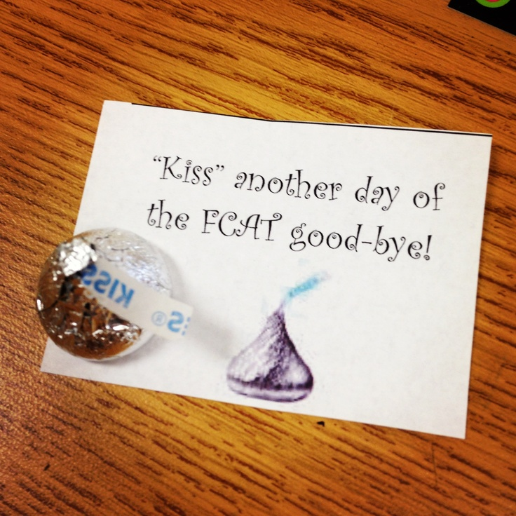 Motivational testing encouragers: Kiss Another Day of the ...