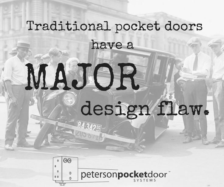 A traditional pocket door unit includes a fixed track - a track that cannot be adjusted once installed. As the materials in your home expand and contract, your pocket door will stop working and you will be stuck with an expensive and complicated repair. Instead, use the Peterson Pocket Door System and adjust your pocket door track with the simple turn of a machine bolt... anytime you want. No costly repairs required. Learn more at: https://petersonpocketdoor.com/