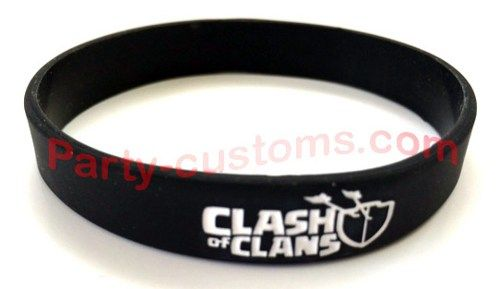 "Clash of Clans Silicone bracelet ""Black"" | Party-Stop - Children's on ArtFire"