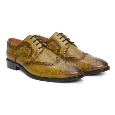 Buy #Olive Green Hand Finished #Leather Brogue / Oxford Men's #Shoes by #Brune  @ voganow.com