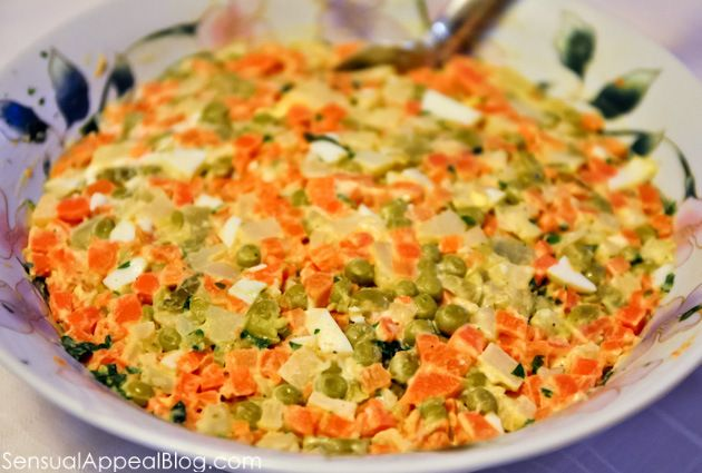 Cooke Vegetable and Egg Salad (my mom's traditional Polish holiday salad recipe)