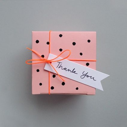 polka dot packaging