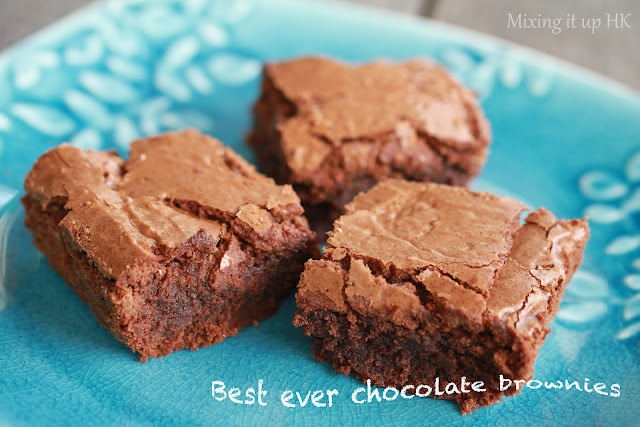 Chocolate brownies. These look awesome, must try!