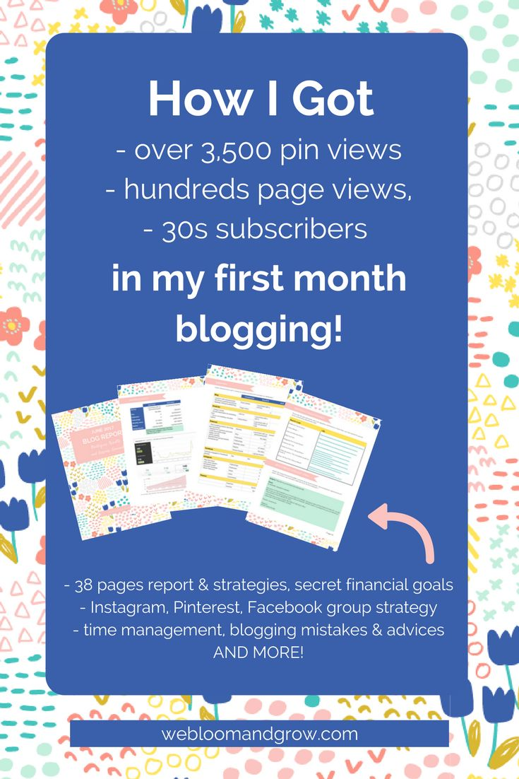 Learn my exact strategies to get 3,500 Pinterest views, hundreds blog page views, and 30s subscribers in my first month blogging