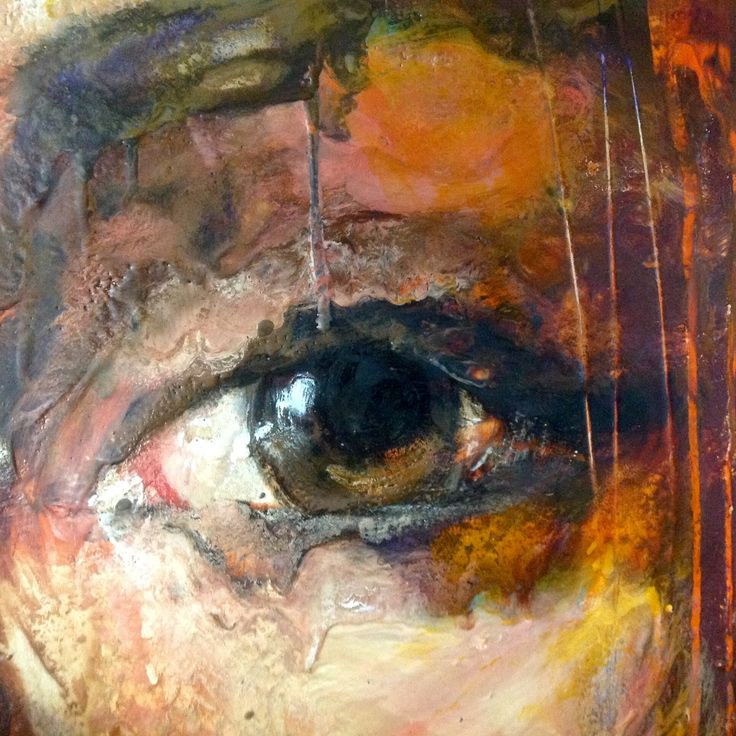 detail from Sinner .. the lie of the land  encaustic on panel  100cmx100cm www.loramurphypaintings.com