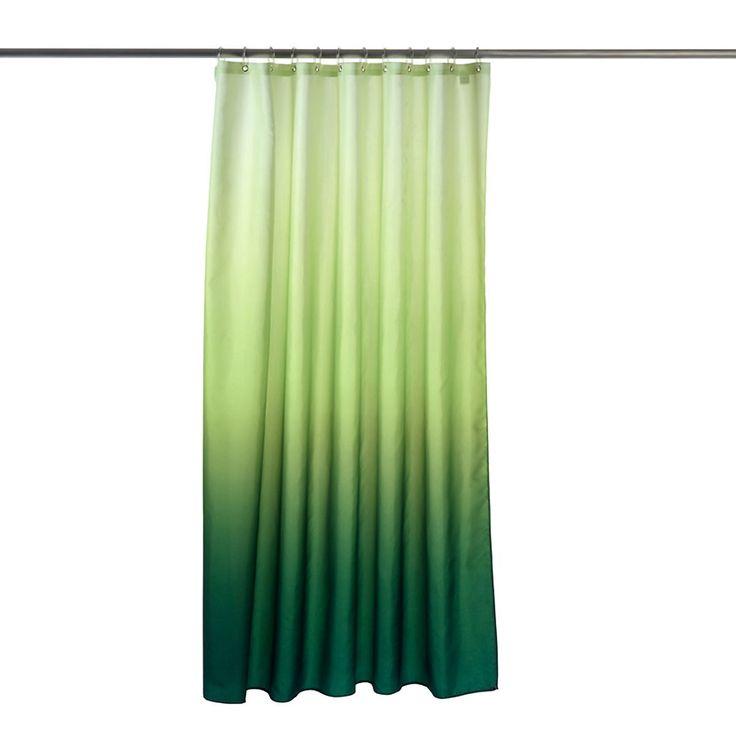 duschvorhang farbverlauf ca b 180 x l 200 cm gr n farbe. Black Bedroom Furniture Sets. Home Design Ideas