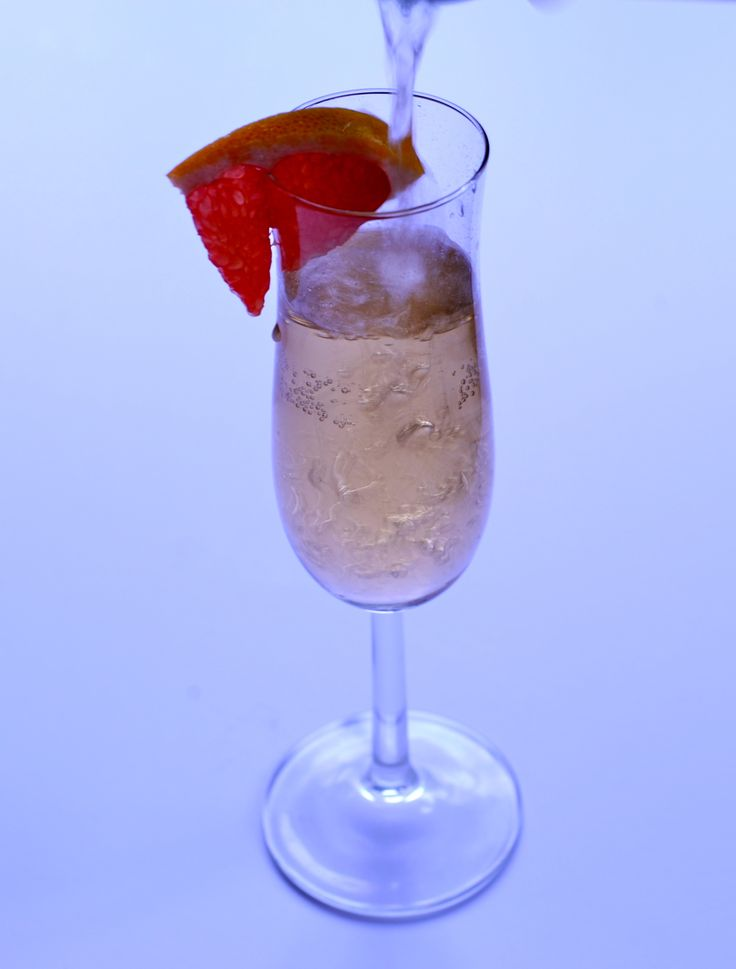 'Cheap' Champagne Cocktail with Winter Citrus