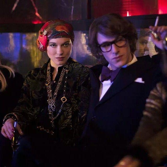 Léa Seydoux as Loulou de La Falaise and Gaspard Ulliel as Yves Saint Laurent.New Still