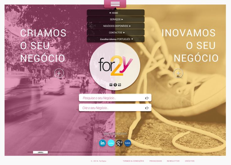 for2y - E-commerce website top hover menu