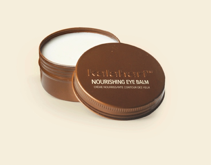Kalahari Nourishing Eye Balm.   A light textured eye cream which hydrates, soften and protects the delicate skin around the eyes.