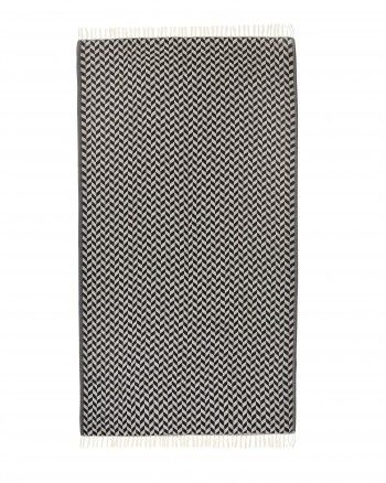 """Lightweight and generously sized, La Palma is a jacquard weaved """"hammam"""" towel made out of pure cotton. Its unique pattern and fringe detailing creates an elegant accessory which can also be used as beach mat, sarong or cover up. Available in rainbow of colours this ultra soft towel is perfect for an everyday use"""