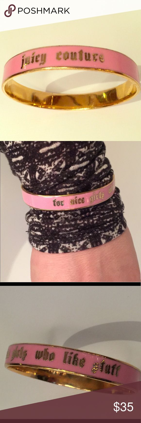 Juicy couture pink and gold bangle bracelet  nice Juicy couture pink and gold bangle bracelet  for nice girls who like stuff Juicy Couture Jewelry Bracelets