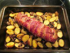 En verden af smag!: Svinemørbrad i Fad med Champignon, Feta og Kartofler