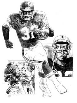 Marcus Allen Kansas City Chiefs Lithograph Limited Edition Artwork By Michael Mellett Chiefs Lithograph Collection by HOFGROUP on Etsy