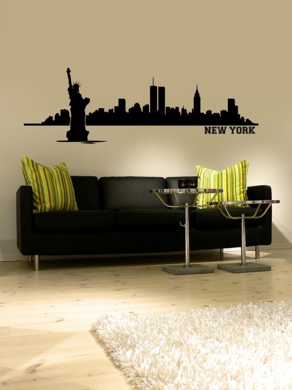 17 Best Images About New York Theme Living Room On Pinterest Nyc Vinyl Wal