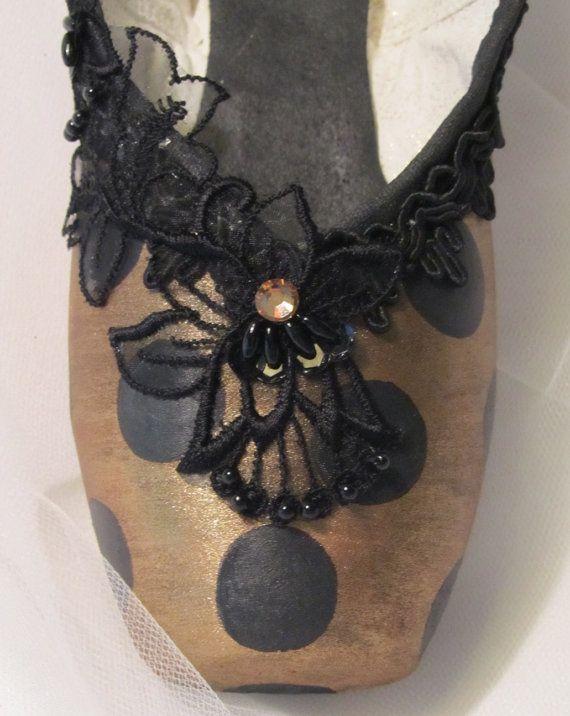 Nutcracker Spanish decorated pointe shoe. by DesignsEnPointe, $35.00