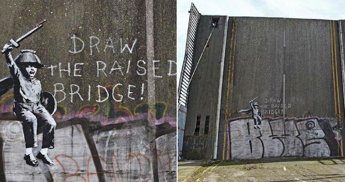 """Funcionario del Reino Unido intenta borrar un mural de Banksy porque no era """"verdadero arte"""""""