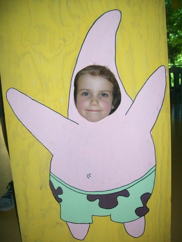 Spongebob Birthday Party / Photo Stand Up And Face Painting ∙ Creation by Perelin18 on Cut Out + Keep