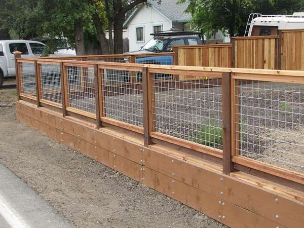 Image Result For Wood And Wire Fence Ideas Backyard Fences