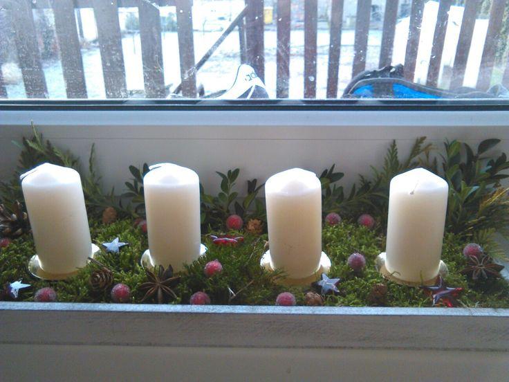 Adventní svícen přírodní