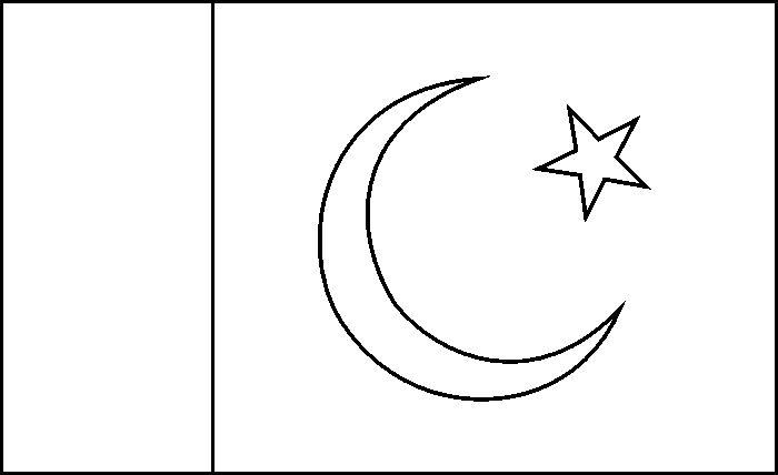 Pakistan Flag sketch,http://colorasketch.com/pakistan-flag