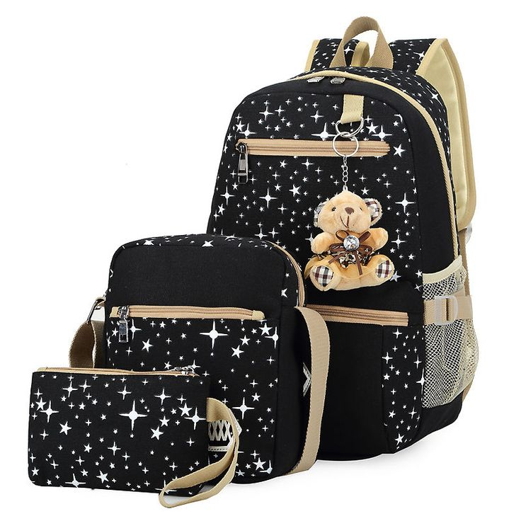 Free Shipping Girls School Shoulder Bags Teen Kids Canvas Backpack Cute Bookbag