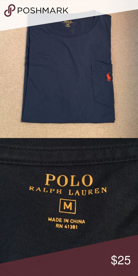 Teal Ralph Lauren Polo Shirt with Pocket Pocket Size medium Polo Ralph Lauren Orange Detail Polo by Ralph Lauren Shirts Polos
