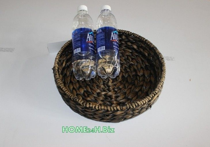 Home24h co,.ltd: Water hyacinth Round Tray Home24h / Small round Trays-Home24h.biz