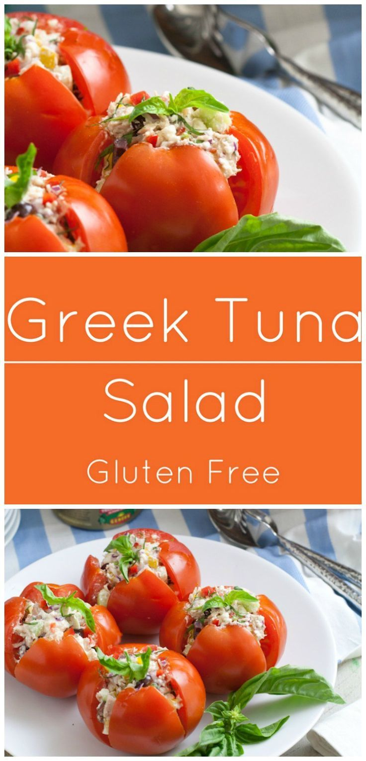 Greek Tuna Salad...all the flavors of the Greek islands, cucumbers, olives, and basil, in a delicious salad or sandwich filler!