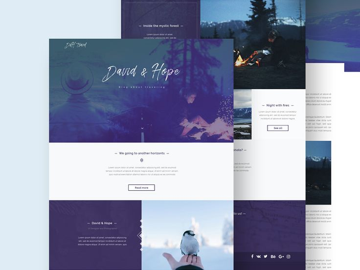 David & Hope - is a clean and free PSD template suited for bloggers and photographers. The resource is well layered with organized folders and layers named accordingly. This template's layout was based on a Bootstrap grid of 1170px, so you don't have to spend to much time implementing it. The author of this freebie is Dmitry Khizhnyak.