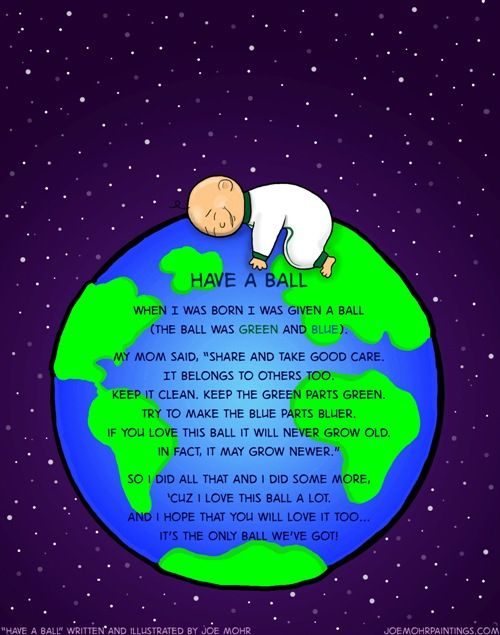 earth day poems for kids | Earth Day is Friday! Have a ball! Share your love for the world with ...
