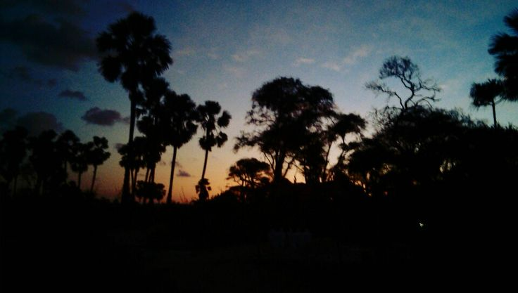 beautiful sunset, kolbano, east nusa tenggara