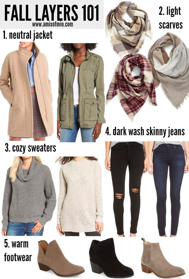 Tips for Building a Fall Wardrobe [Layers 101]