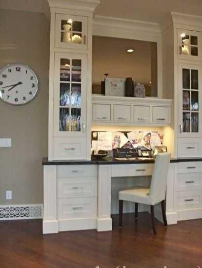 58 best images about kitchen desks on pinterest for Desk in kitchen ideas