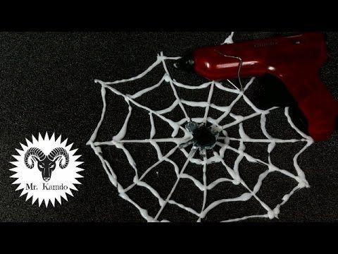 DIY Hot Glue Cobweb   Halloween Ep 2