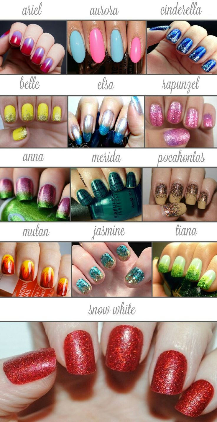 Simple Subtle Disney Princess Nails - Nail Art