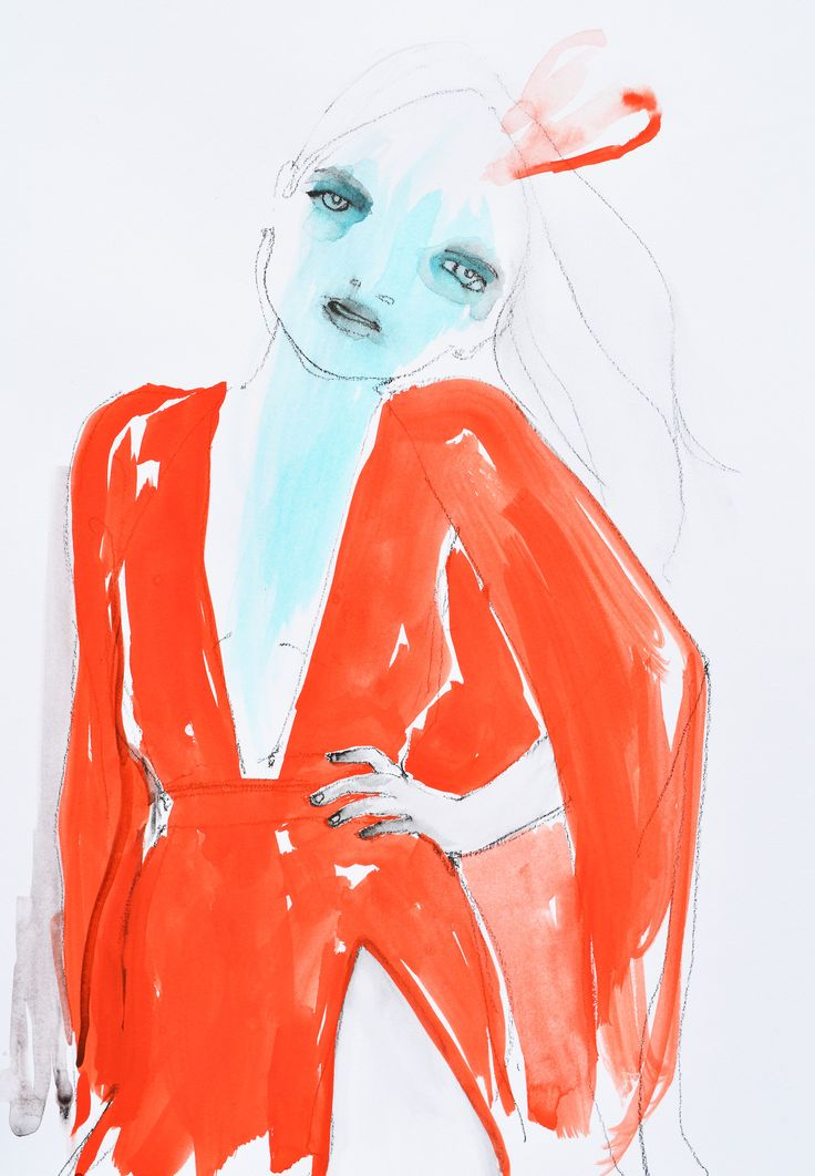 Modeconnect.com - Fashion Illustration of Emanuel Ungaro by Abbey McCulloch