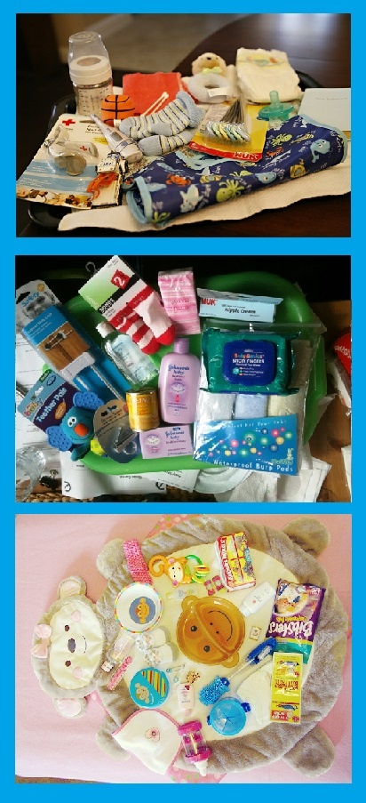 baby shower game memory tray place several baby items on a tray show