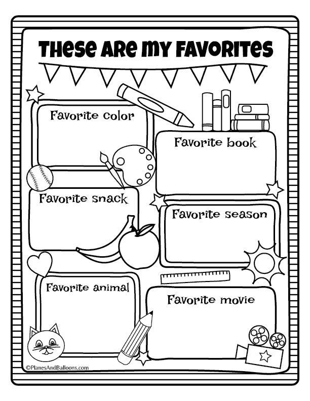All About Me All About Me Preschool Free Kindergarten Worksheets All About Me Worksheet