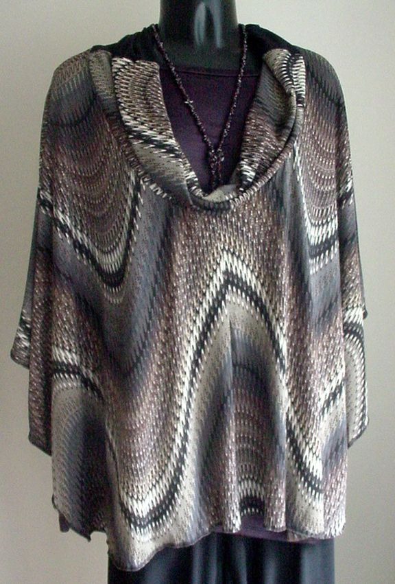 NEW Handmade designer Jacket-ALTERNATIVE Poncho Circle Top MULTI color - 1Sz #Custommade #Poncho