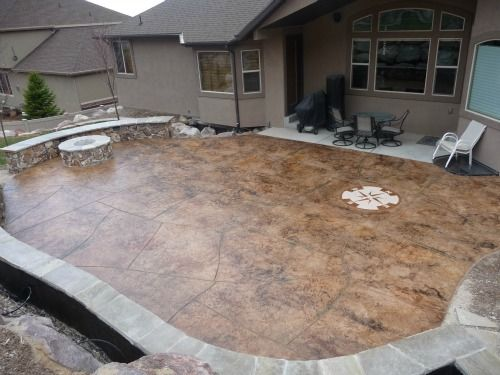 stamp concrete patio design ideas pictures remodel and decor page 13 - Concrete Design Ideas