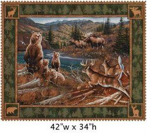 133 best Wildlife quilts images on Pinterest | Window, Coloring ... : wildlife quilt fabric - Adamdwight.com