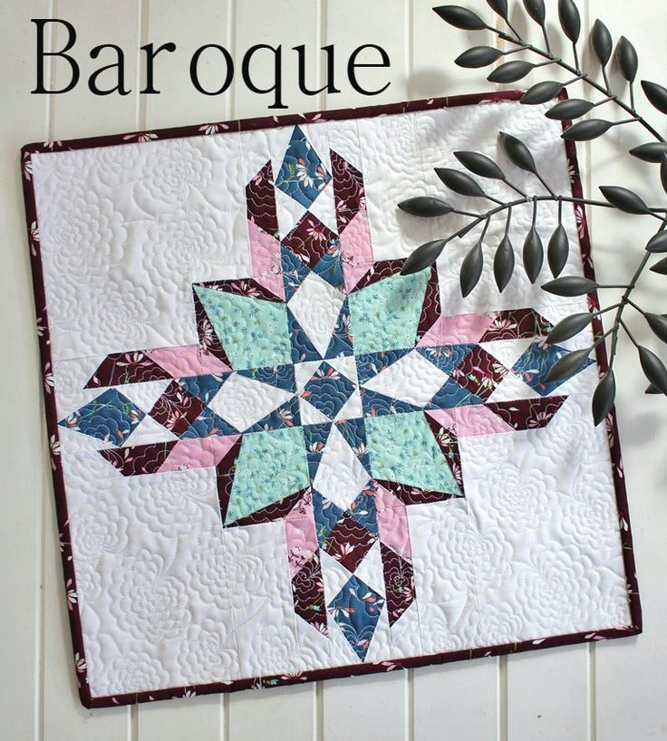 Threadbare Creations- Baroque Mini Quilt PDF Pattern